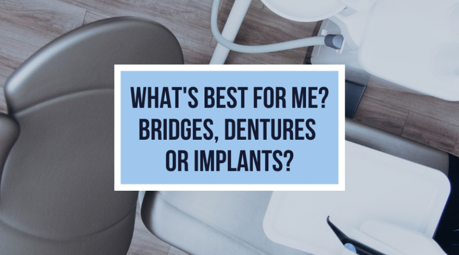 What's Best for Me? Bridges, Dentures or Implants?